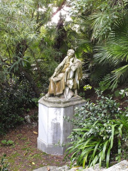 Statue de Lord Byron à Corfou